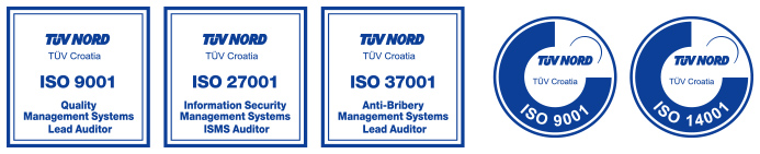 ISO/IEC 27001, ISO 22301, ISO 9001, ISO 14001, IEC 62443, ISO 20000, ISO/IEC 20000, ISO 37001, ISO 45001, ISO 50001